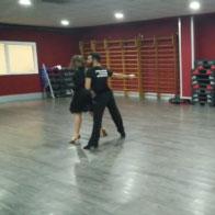 Francesca Campobassi e Marcello Mecocci in allenamento