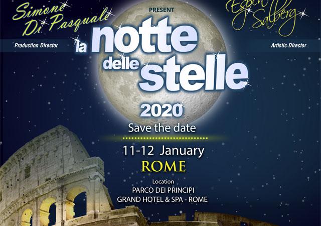 La Notte Delle Stelle – ISCRIZIONI Roma 11-12 January 2020